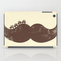 mustache iPad Cases featuring Mustache Ride by Jonah Makes Artstuff