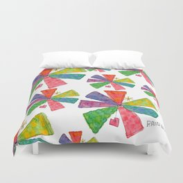 You Are Rainbow flower illustration floral pattern colorful abstract painting peaceful equality Duvet Cover