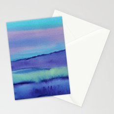 Watercolor abstract landscape 04 Stationery Cards