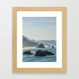 Haystack Rock from Crescent Point Framed Art Print