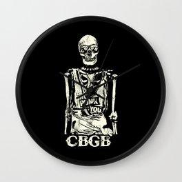 Punk You Vintage Skull CBGB Wall Clock