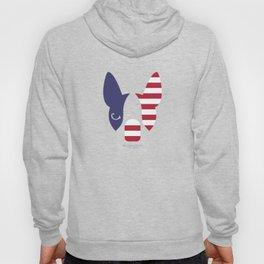 Boston Terrier: American Flag. Hoody
