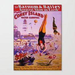 Vintage Coney Island Water Carnival Canvas Print