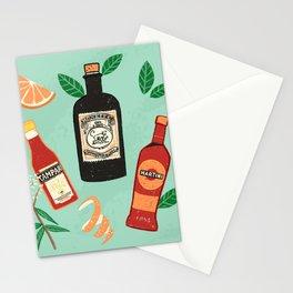 Negroni time! Lockdown pleasures - Print illustration doodle Stationery Cards