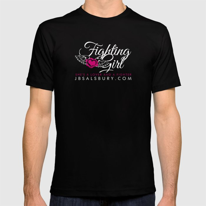 Fighting Girls Black T-shirt