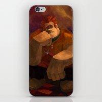wreck it ralph iPhone & iPod Skins featuring Vermeer Ralph by Zimeta
