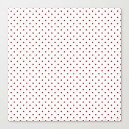 Red dots Canvas Print