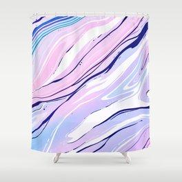 Acid marble background Fondo de mármol ácido Fondo de mármol ácido Fond de marbre acide Shower Curtain