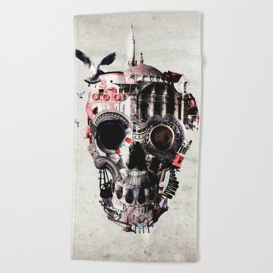 Istanbul Skull Beach Towel