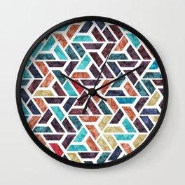 Seamless Colorful Geometric Pattern XVI Wall Clock