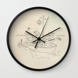 Suess Boat Wall Clock