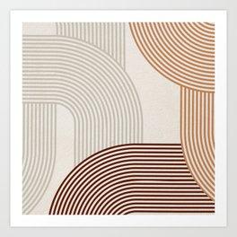 Mid Century Line Art I Art Print