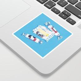 White Rabbit Candy 2 Sticker