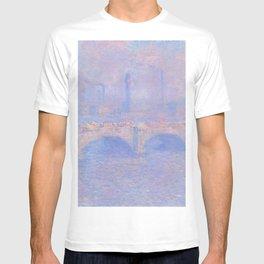 Waterloo Bridge, Sunlight Effect (1903) by Claude Monet T-shirt