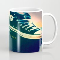 converse Mugs featuring Converse Sneakers by Tyland Creations