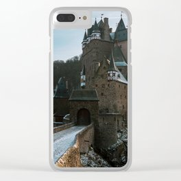 Fairytale Castle in a winter forest in Germany - Landscape and Architecture Clear iPhone Case