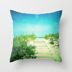 Path to the Beach Throw Pillow