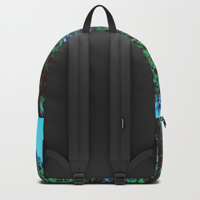 Green Tall Trees Blue Sky Backpack