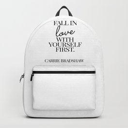 fall in love with yourself first Backpack
