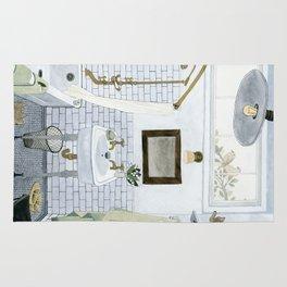 In The Bathroom Rug