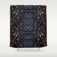 folk Shower Curtains featuring Folk by Pommy New York