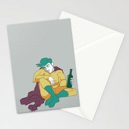 superhero´s tragedy Stationery Cards