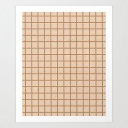 Beige Grid Art Print