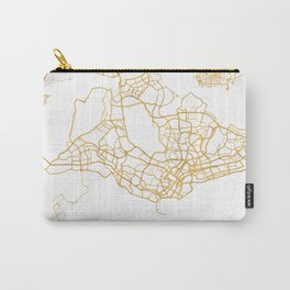 SINGAPORE CITY STREET MAP ART Carry-All Pouch