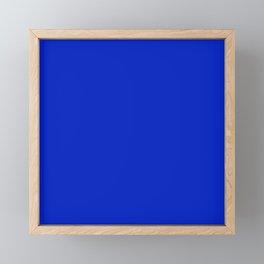 Solid Deep Cobalt Blue Color Framed Mini Art Print