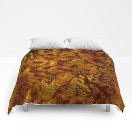 Floral Fantasy 07 golden Comforters