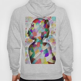 Abstract Mosaic Woman Silhouette Hoody