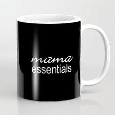 Mama Essentials (black with white) Mug