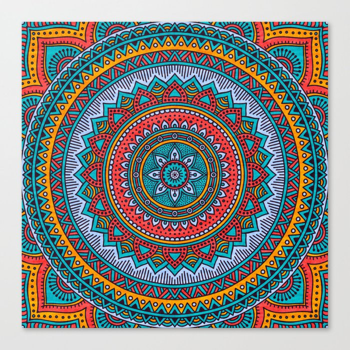 Hippie mandala 32 Canvas Print