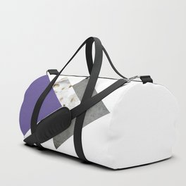 Ultra Violet Blossoms Arrows Duffle Bag