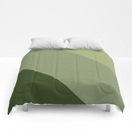 Pine Moss Sage Diagonal  Comforters