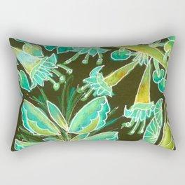 Irish Garden, Lime Green Flowers Dance in Joy Rectangular Pillow