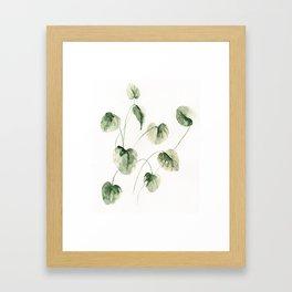 Drop Leafs Framed Art Print