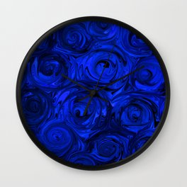 China Blue Rose Abstract Wall Clock