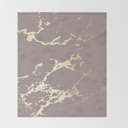 Kintsugi Ceramic Gold on Red Earth Throw Blanket