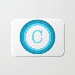 Blue letter C Bath Mat