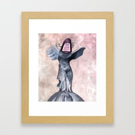 Winged Robot of Victory Framed Art Print