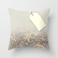 tote bag Throw Pillows featuring Personalizable Tea Tote Bag by Lydia Joy Palmer