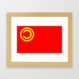 Nicubunu Commie Flag Framed Art Print