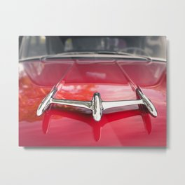Red Oldsmobile Metal Print