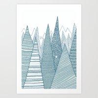mountains Art Prints featuring Mountains by Anita Ivancenko