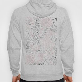 Classy doodles hand drawn floral artwork Hoody