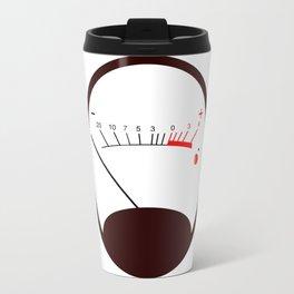 Round VU Meter No Signal Travel Mug