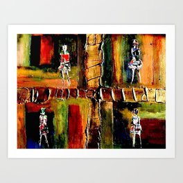 North Shore Girls Art Print