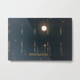 Moon Over Bridge Metal Print