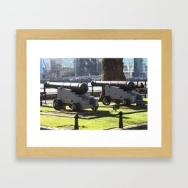 Canon at the Tower Of London Framed Art Print